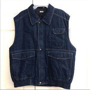 Jean Puffer Vest Size XL NEW